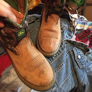 Boy's camo boots